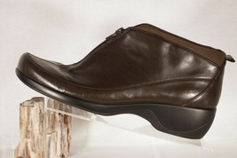"""Easy Spirit Womans Shoes BROWN Zippered front 10M  1.75"""" HEELS Ankle Boots - $19.99"""