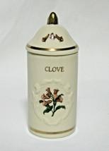 "Lenox Porcelain Spice Garden Jar Collection CLOVE 1992 4"" Tall 1 5/8"" Wide  - £8.43 GBP"