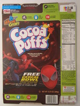 Empty GENERAL MILLS Cereal Box 2007 Cocoa Puffs SPIDER-MAN 3 [G7C1b] - $10.56