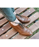 Stringalong Baker's Chocolate Brown Full Brogue Wingtip Women Leather Shoes - $129.99+