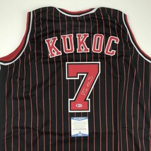 Autographed/Signed TONY KUKOC Chicago Black Pinstripe Basketball Jersey ... - €84,63 EUR