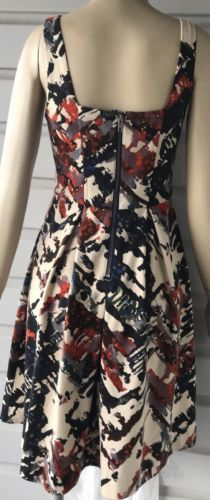 Anthropologie Maeve Multi Color Sleeveless Fit & Flare Party Dress Sz XS