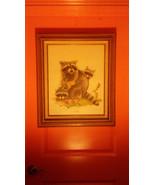 "Vintage Kentucky Wildlife Artist Jim Oliver ""RACCOONS"" SIGNED  Print Pla... - $68.31"