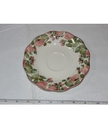 Nikko Tableware Scalloped Edges Saucer 1 Saucer only Off White Pink Flowers! - $29.69