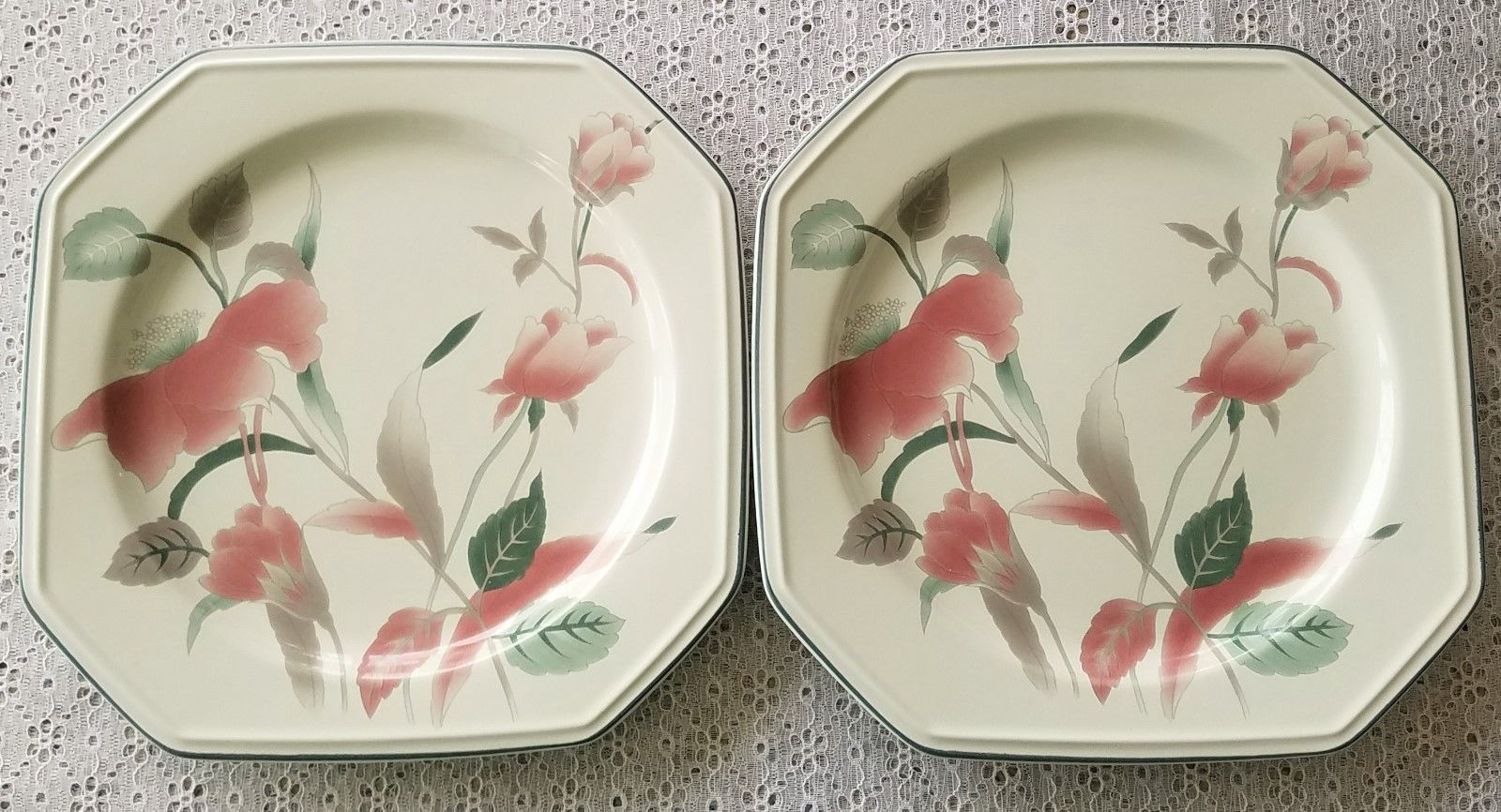 Mikasa continental silk flowers f3003 set of and similar items mikasa continental silk flowers f3003 set of 2 dinner plates mightylinksfo