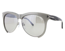 NEW Tom Ford FT0365-38G TF 365 Leona Shiny Grey Grey Mirror Sunglasses (NO CASE) - $116.97