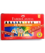 10 X Faber-Castell  12 Wax Crayons  Assorted Shades  57 mm each - $24.09
