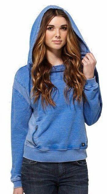 Dc Scarpe Co.Adolescenti Donna Blu Freccia Pile Top Pullover Felpa ADJFT00018