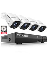 [Full HD] Security Camera System 1080P,SMONET 4 Channel Home Security Ca... - $179.66