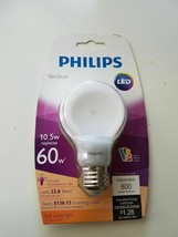 New Philips LED 60 Watt SlimStyle Bulb A19 Soft White Dimmable E26 Base - $16.95