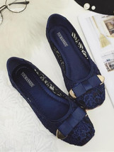 Navy Wedding Shoes,Wedding Flats,Blue Flats,Bridal Shoes Flats,Bridesmai... - £32.17 GBP