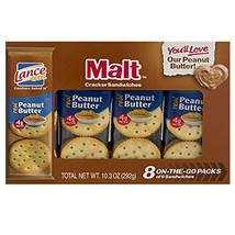 Lance Malt Crackers with Real Peanut Butter - 3 Boxes of 8 Individual Packs