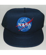 NASA Space Agency Logo Embroidered Patch on a Blue Baseball Cap Hat NEW - $14.50