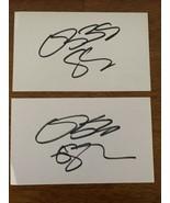(2) Ozzy Osbourne BLACK SABBATH Signed Autograph Auto 2.5x3 Cut Index Ca... - $111.95