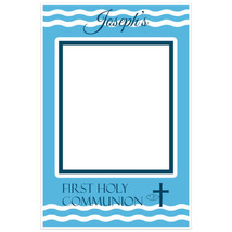 Communion Selfie Frame Blue Wave Social Media Photo Booth Prop Poster - $16.34+