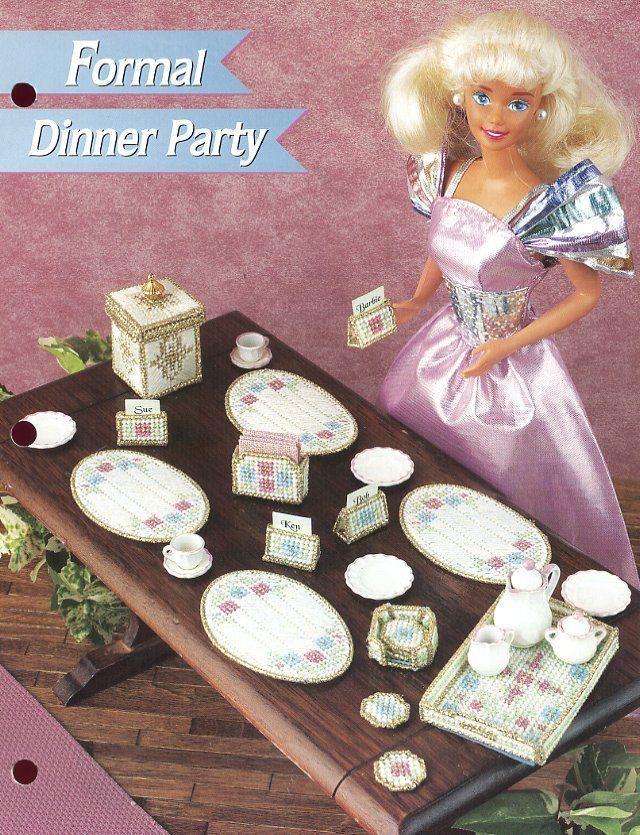 Annie/'s plastic canvas pattern leaflet Jewelry /& Case ~ fits Barbie dolls