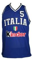 Gianluca Basile Team Italia Italy Basketball Jersey New Sewn Blue Any Size image 4