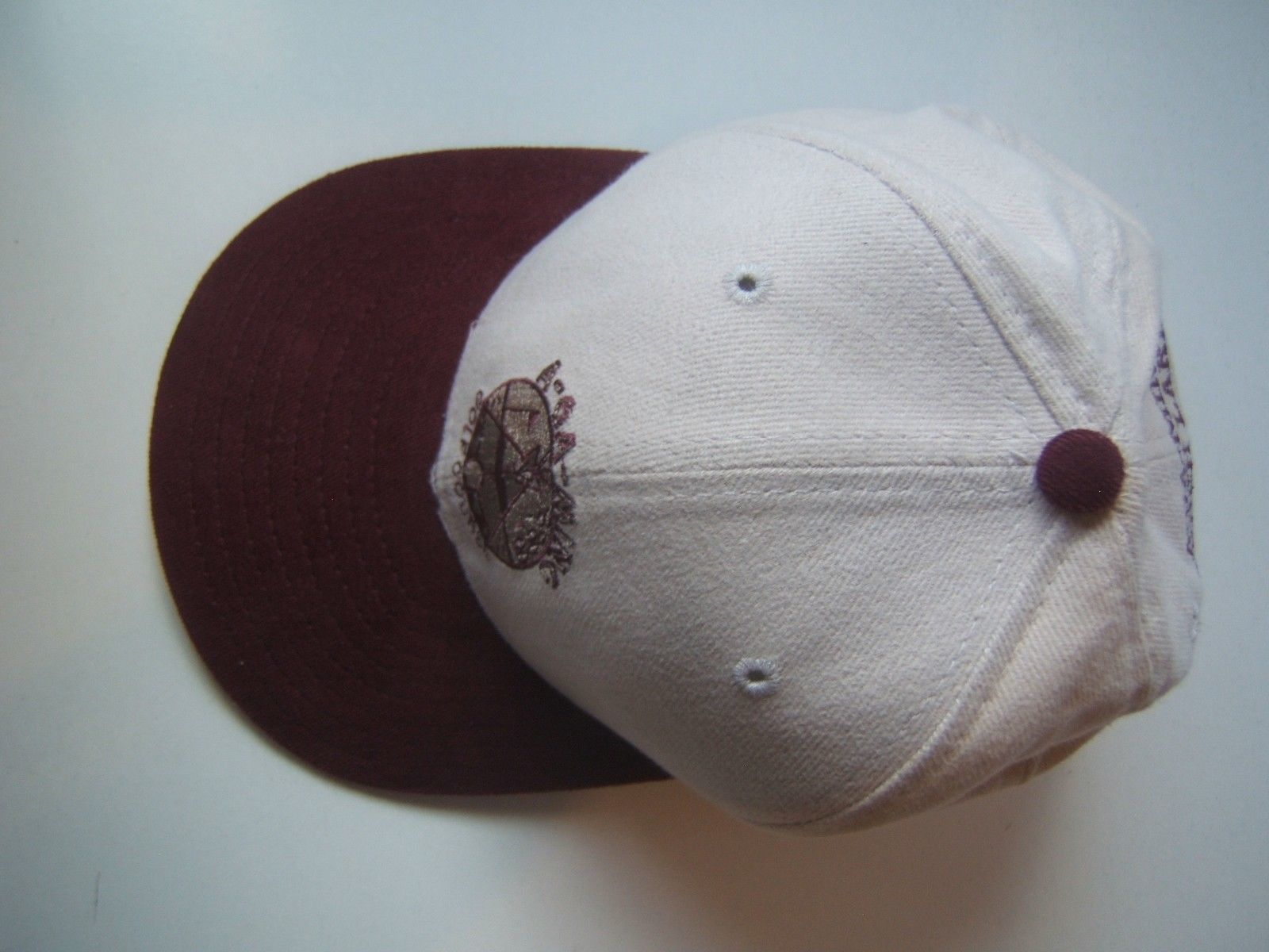 A-GA-MING Golf Course Torch Lake Hat Burgundy Beige Strapback Baseball Cap USA