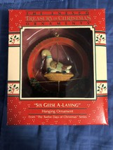 1988 New in Box - Enesco Christmas Ornament - Six Geese A-Laying - #559148 - $15.14