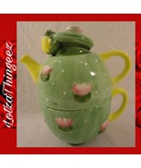 Certified International Frog & Lilly Pad 3 pc Teapot Set - Peggy Jo Ackley - $25.73
