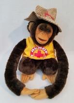 Chimp Monkey RESCUE SQUAD Plush Puppet Squeaker Ruhof Medical Life Guard... - $24.14