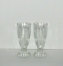 Vintage Libbey Clear Glass Milkshake Cups Sundae Glasses Set of 2 - $24.98