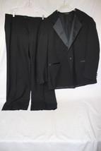Designer Mens ADOLFO Black 100% Wool Tuxedo Pant Suit, Mens 48-B79 - $125.00