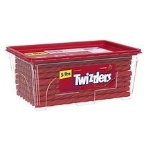 TWIZZLERS Licorice Candy, Halloween Candy, Strawberry, 5 Pound - $20.56