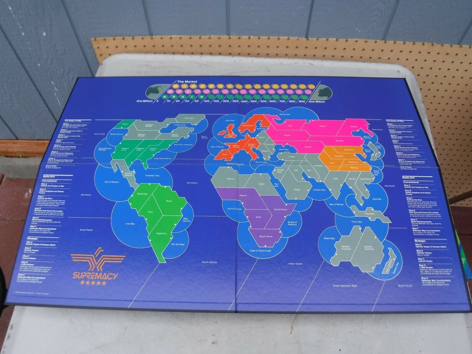Vintage 1986 Supremacy Game of the Superpowers Global Domination Complete image 5