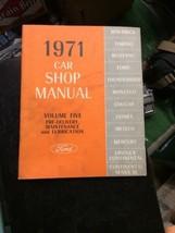 1971 Ford Car Volume 5 Shop MANUAL Vintage car automobile repair - $39.99