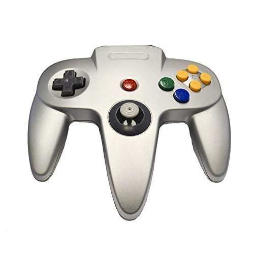 Nintendo N64 Silver Replacement Controller By Mars Devices For N64 Gamepad