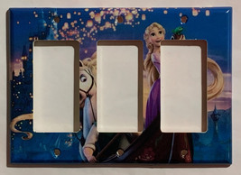 Rapunzel and Flynn Light Switch Power Duplex Outlet wall Cover Plate home decor image 6