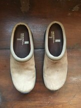 Merrell Encore Groove Brown Suede Leather Air Cushion Mule Shoes Women's... - $24.74