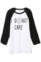 Thread Tank I Donut Care Unisex 3/4 Sleeves Baseball Raglan T-Shirt Tee White Bl - $24.99+