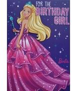 "Barbie Greeting Card Birthday ""For the Birthday Girl"" - $3.89"