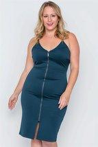 Plus Size Black Ribbed Cami Bodycon Mini Dress - $34.45