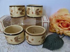 Vintage Franciscan Pottery Cafe Royal Napkin Rings Set/4 In Box - $25.99