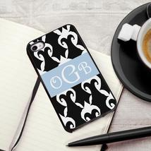 Personalized Black Trimmed iPhone cover - Damask - $31.86 CAD