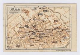 1937 ORIGINAL VINTAGE CITY MAP OF FERRARA / EMILIA-ROMAGNA / ITALY - $11.88