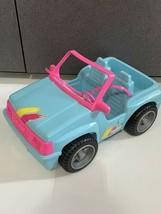 Vintage 1994 Mattel Barbie Blue Beach Jeep Dune Buggy 4x4 Car Vehicle Pu... - $16.78