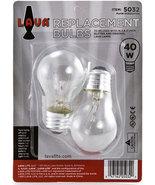 """2 Pack Lava Lamp 40 Watt Replacement Bulbs for 16.3""""/52oz lamp - $9.95"""
