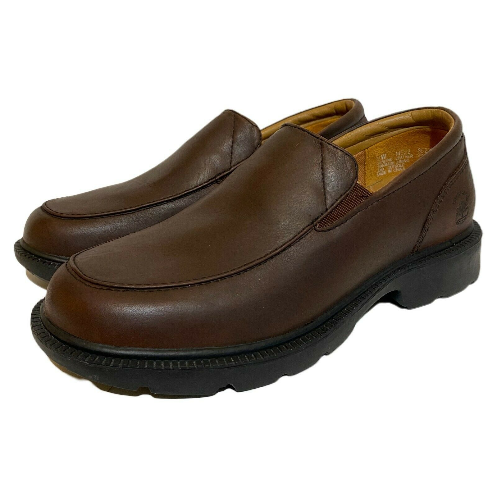 Timberland Womens Brown Leather Waterproof Slip On Shoes Clogs 14322 Size 6 W - $34.64
