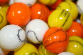 Gumballs Baseball Bubble Gum 25mm Or 1 Inch (57 Count), 1LB - $12.51