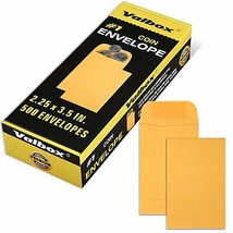 ValBox #1 Coin Envelopes 2.25x 3.5 Small Parts Envelope with Gummed Flap... - $13.83