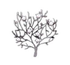 2 Pieces Of Creative Brooch Beads Tree Brooch Clothes Accessories