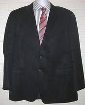 Lauren Ralph Woolmark Pinstripe Blazer Sport Jacket Navy Blue Mens 46T Coat Euc - $29.69