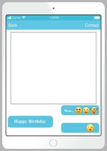 iPhone Happy Birthday Photo Booth Selfie Picture Frame for Photography 4... - $8.68