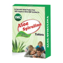 100 % herbal AYUVEDIC Aloe Spirulina Tablets -30 TABLETS - $21.77