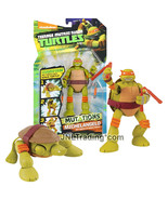 "Yr 2014 Ninja Turtles TMNT Mutations 6"" Figure Pet to Ninja Turtle MICHELANGELO - $39.99"