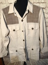 Vintage Americas Best Sport Clothing Hunting Shirt Men's Size 40 Suede S... - $21.41